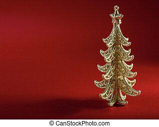 plano de fondo, árbol, navidad, rojo