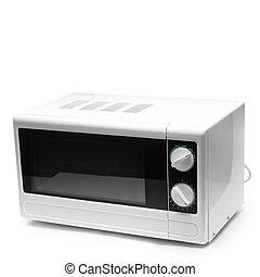 plano de fondo, aislado, horno de microonda, blanco, comida