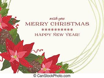 plano de fondo, alegre, año, nuevo, navidad, feliz