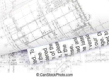 plano de fondo, arquitectónico, dibujo