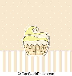 Plano de fondo,  beige,  Cupcake