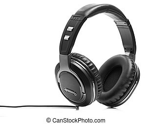 plano de fondo, blanco, aislado, auriculares