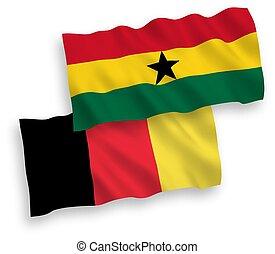 plano de fondo, blanco, ghana, bélgica, banderas