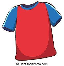 plano de fondo, blanco rojo, camisa