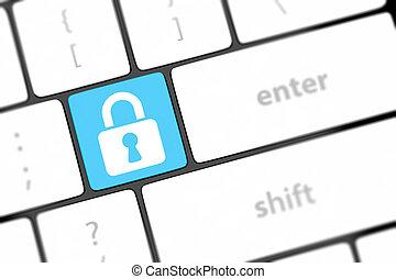 plano de fondo, botón, entrar, candado, computadora, cerrado, teclado