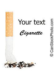 plano de fondo, butt, aislado, blanco, cigarrillo