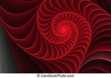 plano de fondo, cáscara, elemento, espiral, ilustración
