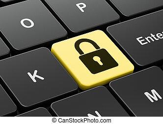 plano de fondo, candado, computadora, cerrado, teclado, datos, concept: