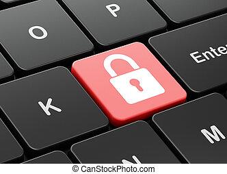 plano de fondo, candado, computadora, cerrado, teclado, seguridad, concept: