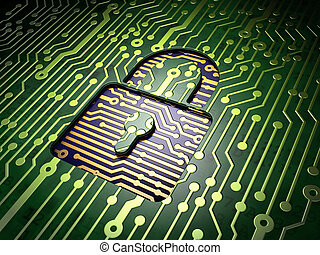 plano de fondo, candado, protección, tabla, circuito, concept:, cerrado