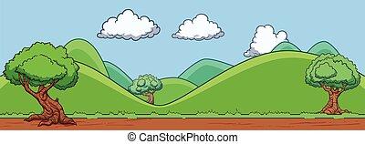 plano de fondo, colinas