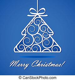 plano de fondo, con, árbol de navidad
