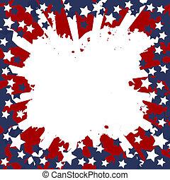 plano de fondo, con, bandera de los e.e.u.u, marco, para, su, mensaje