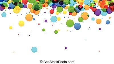 plano de fondo, con, bubbles.
