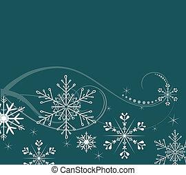 plano de fondo, con, copos de nieve