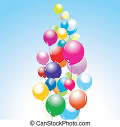 plano de fondo, con, globos