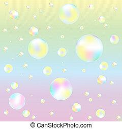 plano de fondo, con, jabón burbujea