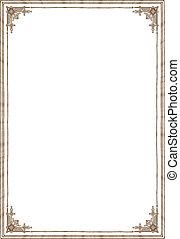 plano de fondo, con, marco