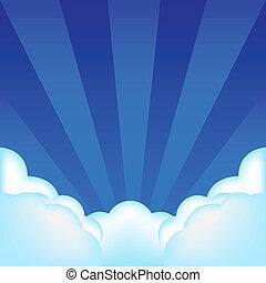 plano de fondo, con, nubes
