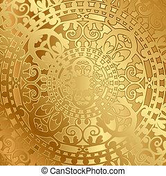 plano de fondo, con, oriental, decoración