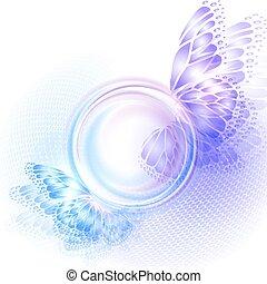 plano de fondo, con, suave, transparente, círculo