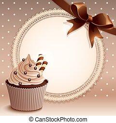 plano de fondo, cupcake