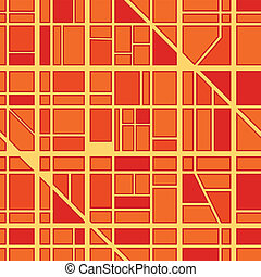 plano de fondo, de, ciudad, distrito