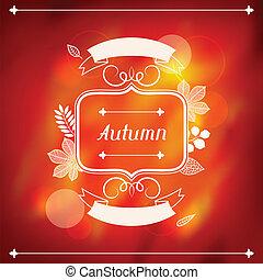 plano de fondo, de, estilizado, otoño sale, para, saludo, tarjetas.