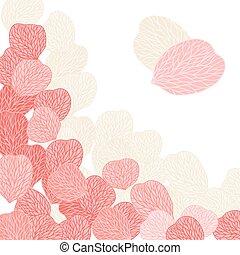 plano de fondo, de, flor rosa, petals., vector, illustranion