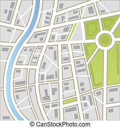 plano de fondo, de, mapa ciudad