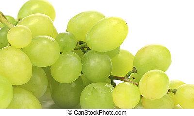 plano de fondo, de, ramo, con, uvas verdes