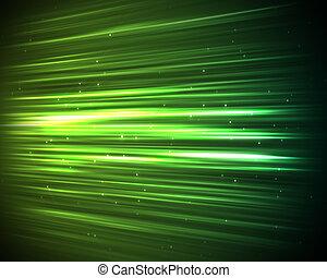 plano de fondo, de, verde, líneas y puntos