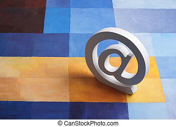 @, plano de fondo, e-mail, colorido, señal