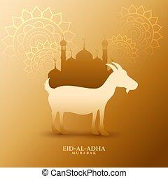 plano de fondo, eid, adha, al, musulmán, fiesta, bakrid