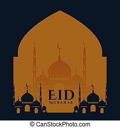 plano de fondo, eid, tarjeta, deseos, fiesta, islámico, diseño