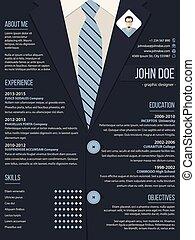plano de fondo, empresa / negocio, resumen, plantilla, traje, cv, fresco