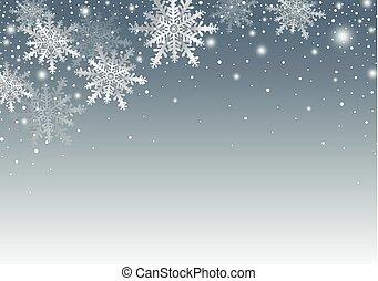 plano de fondo, espacio, navidad, diseño, alegre, año, nuevo, copia, copo de nieve, feliz
