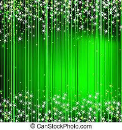plano de fondo, estrellas, extracto verde