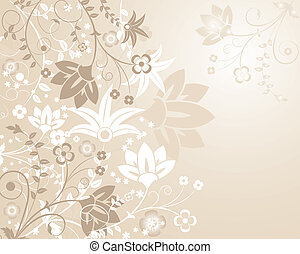 plano de fondo, flor, elementos, para, diseño