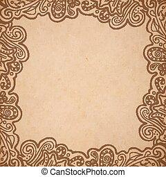 plano de fondo, floral, marco