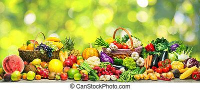 plano de fondo, fruits, vegetales