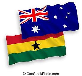 plano de fondo, ghana, australia, blanco, banderas