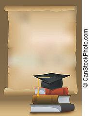 plano de fondo, graduación