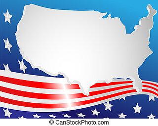 plano de fondo, hecho, de, bandera, y, mapa