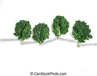 plano de fondo, hojas, blanco, verde, col rizada, orgánico