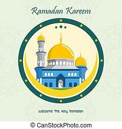 plano de fondo, kareem, mezquita, ramadan