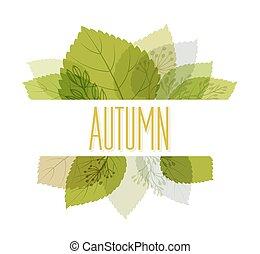 plano de fondo, leaves., otoño