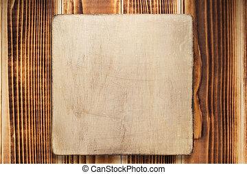 plano de fondo, letrero nombre, o, pared, de madera, señal