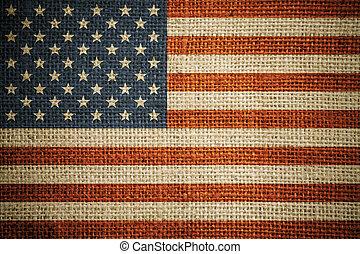 plano de fondo, lona, grunge, bandera, estados unidos de...