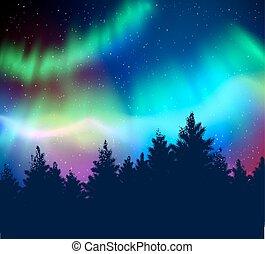 plano de fondo, luces, invierno, norteño